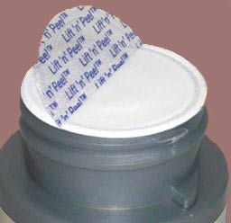 Typical vitamin jar inner seal - nearly impossible to remove
