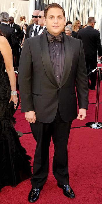 Jonah Hill in Monochromatic Tuxedo