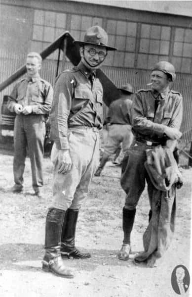 Truman with mustache at Reserve training at Fort Riley, Kansas in July 1927