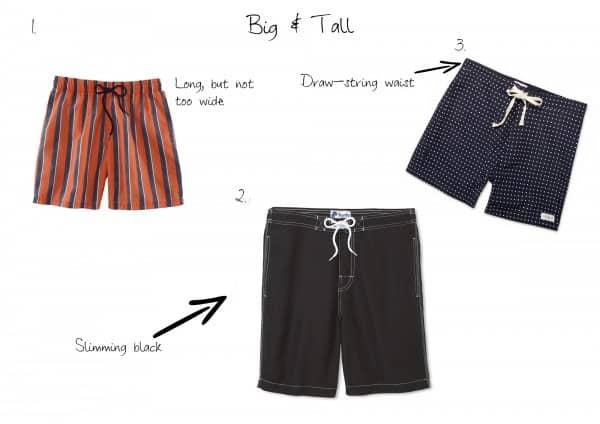 Big & Tall swimsuits