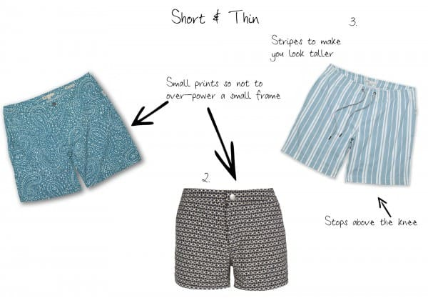 Short & Thin swim trunks