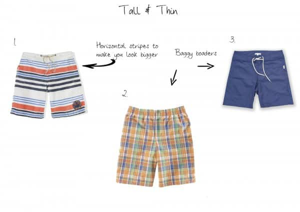 Tall & Thin swim shorts