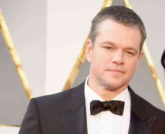 Matt Damon with shirt collar that is a bit too wide
