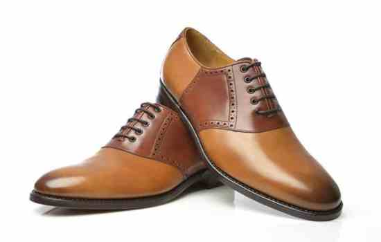 Brown & Tan Saddle shoe No 589 by Shoepassion