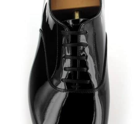 Classic Plain Oxford with Vamp And Quarter in Patent Leather for Black Tie & White Tie evening wear - Cheam by Crockett & Jones