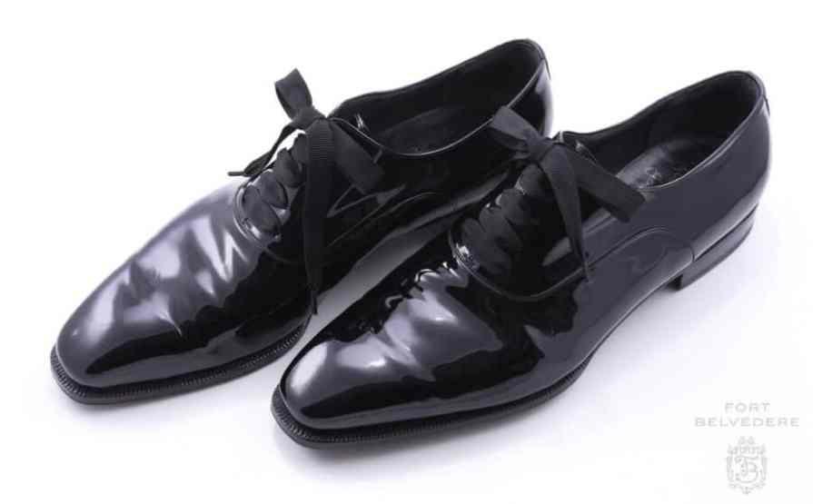 Fort Belvederes Black Grosgrain Faille Evening Shoelaces