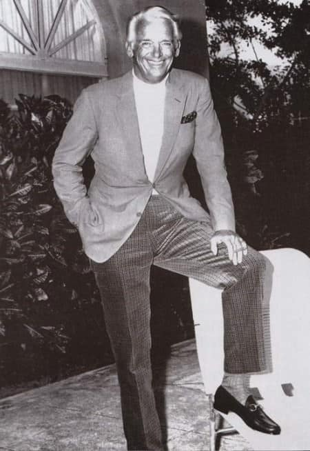Douglas Fairbanks, Jr., wearing Gucci loafers