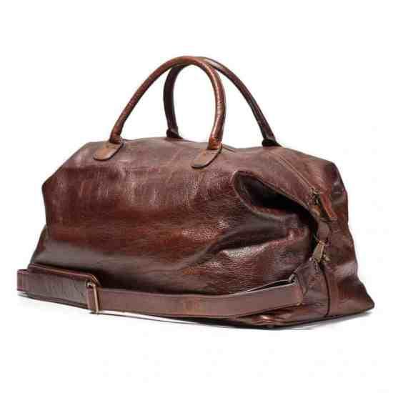 Bison Leather Weekender