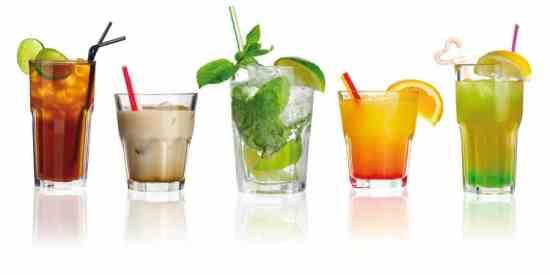 Set of alcohol cocktails