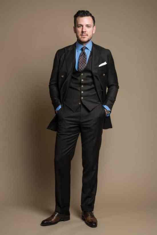 Dan Trepanier - Brown business suit