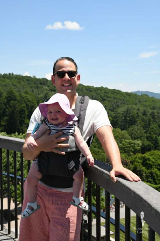 There is no stylish way to carry a baby carrier - just suck it up and deal with it