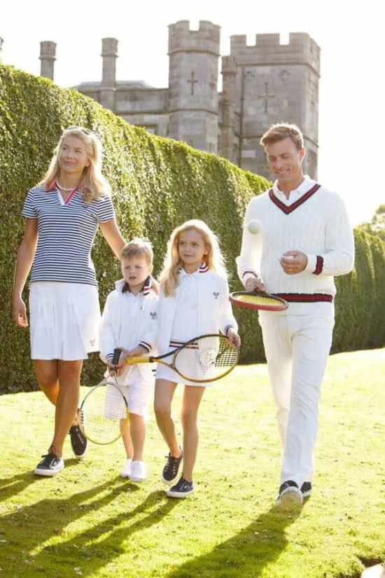This isnt real. No family wears this much white. Its an advert
