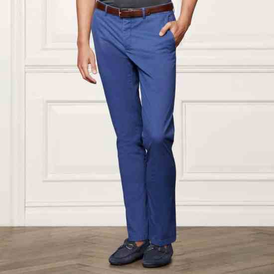 Blue flat front Chino by Ralph Lauren