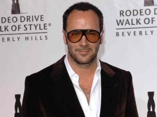 Tom Ford often wears bold sunglasses
