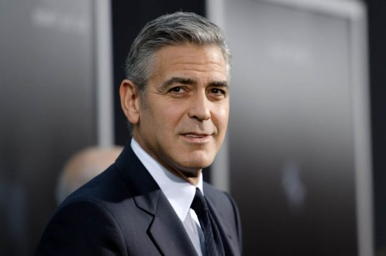George Clooney happy to look his age with salt and pepper hair