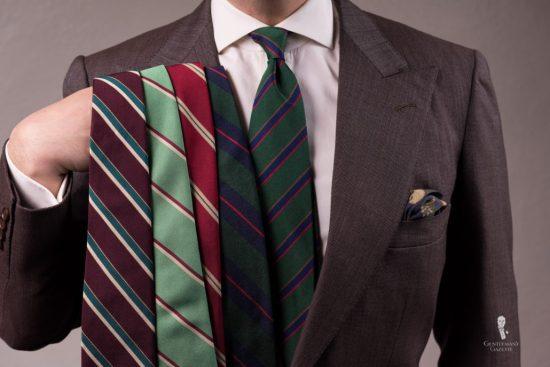 assorted repp ties