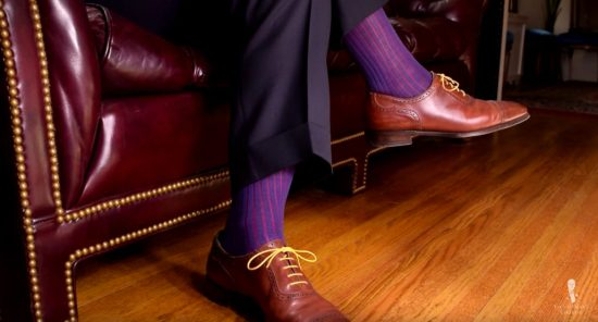 Invest in a quality pair of socks that won't slide down