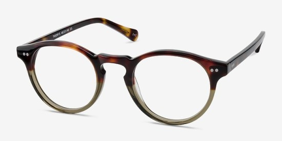 Round plastic frames suit many ages and styles