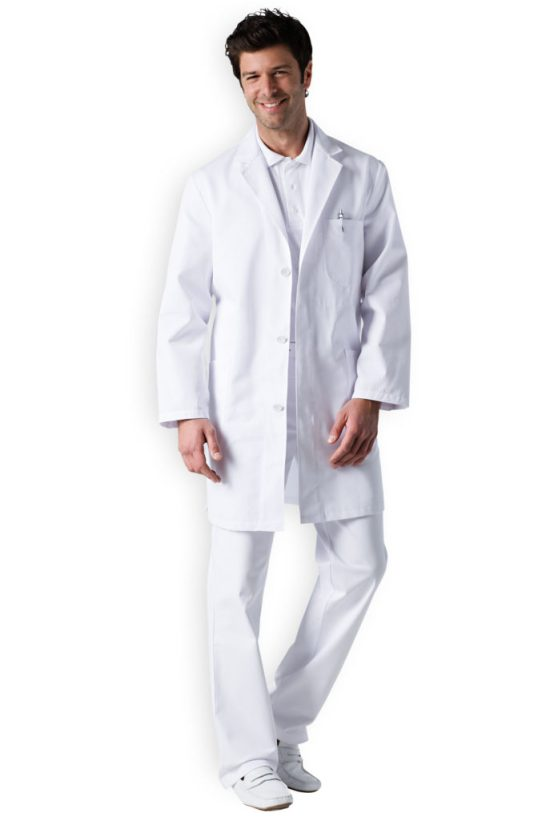 German doctors often wear all white, down to the shoes