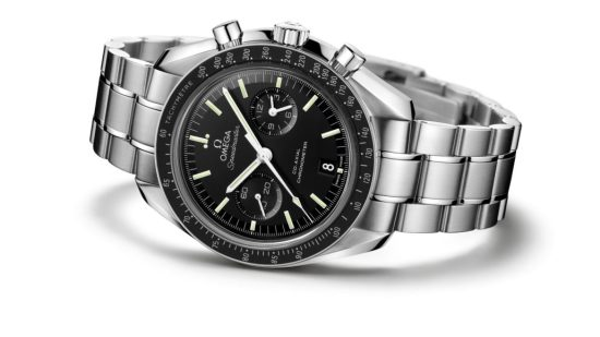 Omega Speedmaster Moonwatch with a metal band