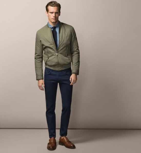 Modern bomber jacket style