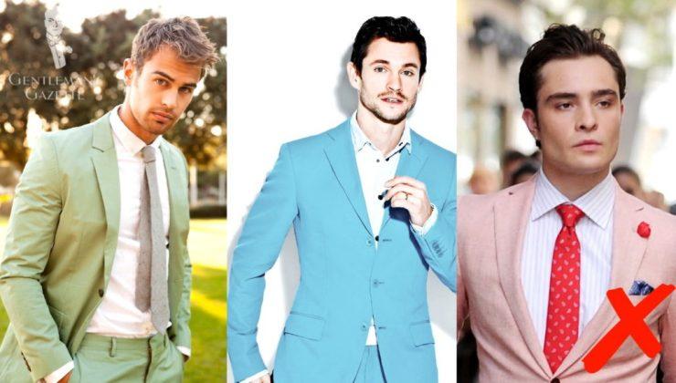 Avoid wearing flashy suits