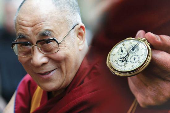 The Dalai Lama and his pocket Patek Philippe, reference 658