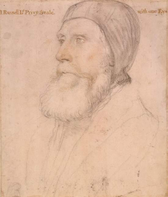 John Russell, 1st Earl of Bedford, by Hans Holbein the Younger