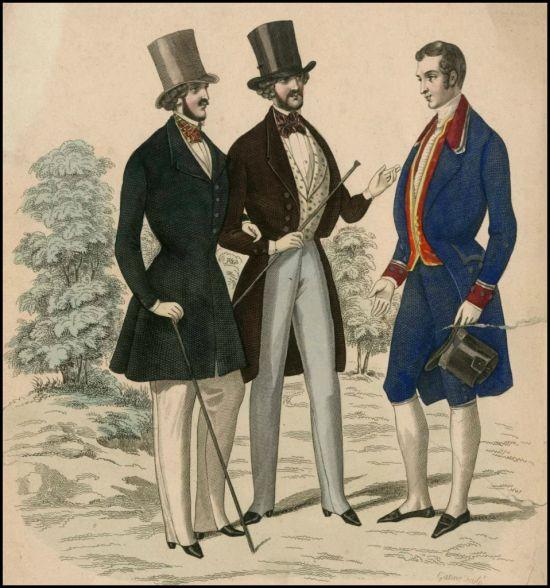 Menswear Illustration c 1840