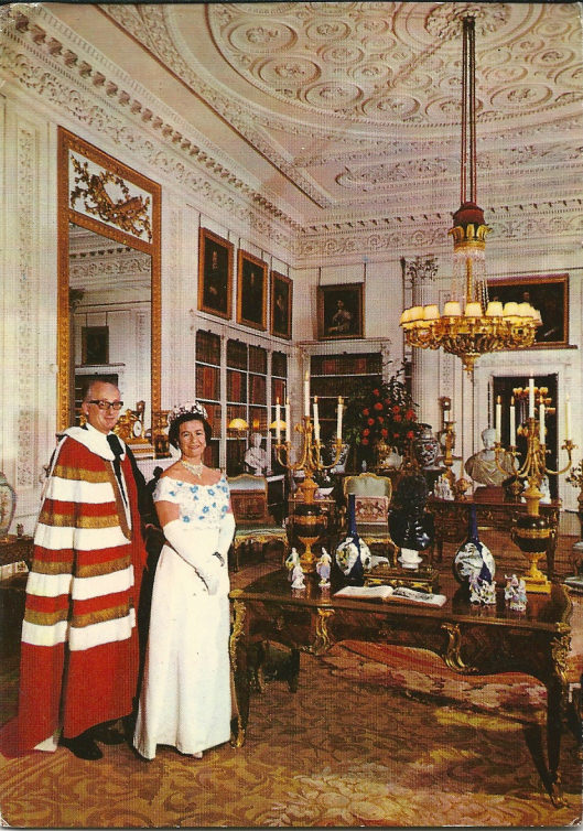 The Duke and Duchess in their regalia