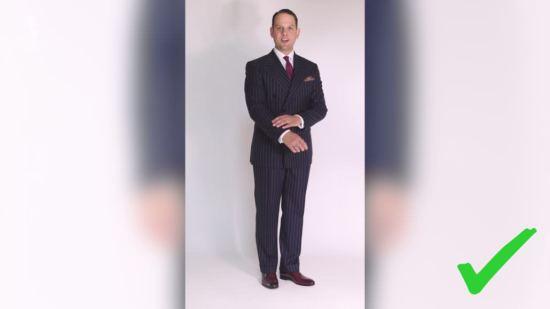 Sven Raphael Schneider's first rope stripe suit