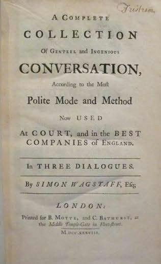 A Complete Collection of Genteel and Ingenious Conversation