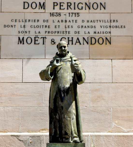 Dom Pérignon statue at Moët & Chandon