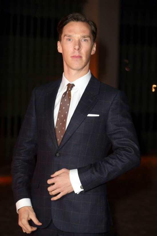 Wearing an Alexander McQueen windowpane suit