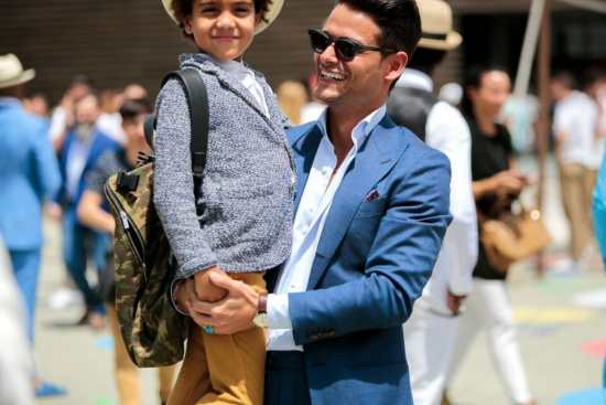 Frank Galluci acting as a style role model at Pitti Uomo.