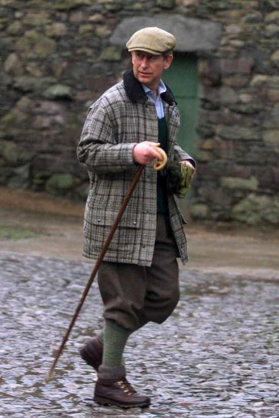 The flat cap has its origins in British rural clothing.