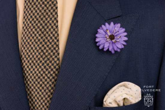 Violet Marguerite Boutonniere by Fort Belvedere