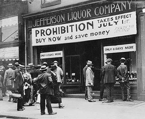 Prohibition is coming, stock before it begins