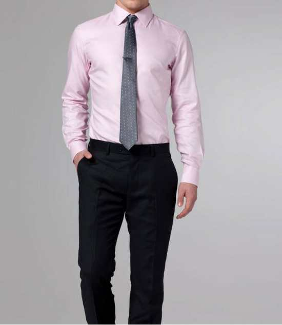 A Pink dress shirt must be worn with extra attention to details
