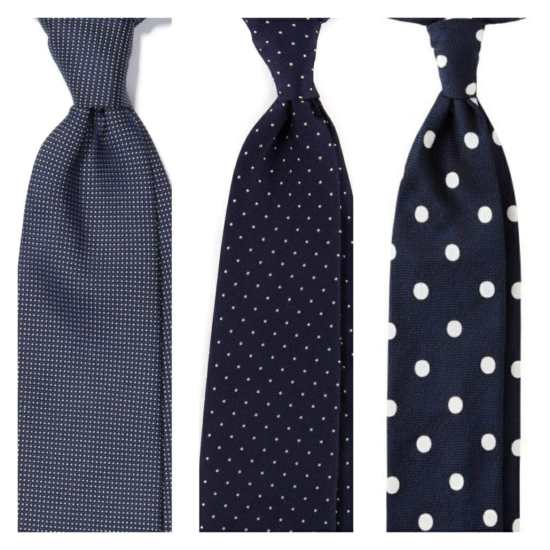 Different dot sizes on ties