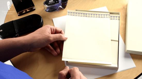 Fountain pen paper