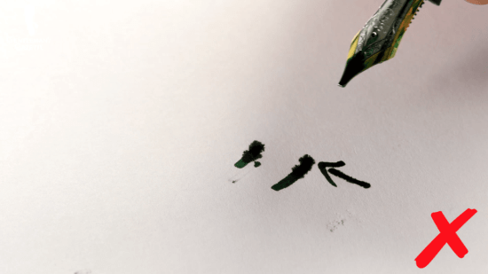 Ink bleed