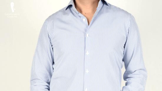 Light blue stripes on a white background