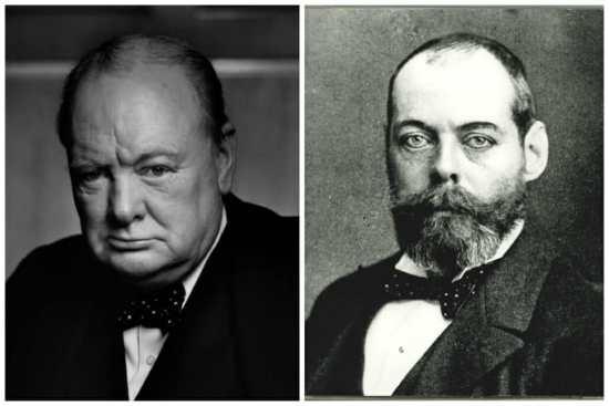 Winston Churchill Polka Dot Tie