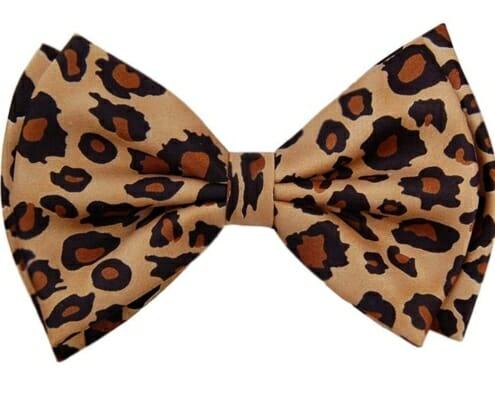 Animal print bow tie screams inelegance