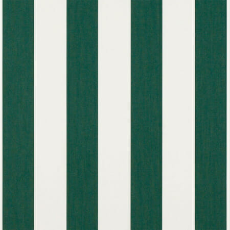 An example of awning stripes in forest green.