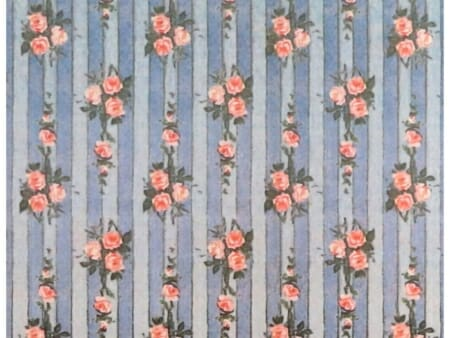 An example of a wallpaper print which incorporates stripes into its design.