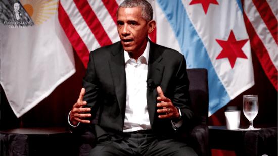 A tieless Barack Obama
