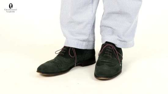 Oxford full brogue wingtip shoes