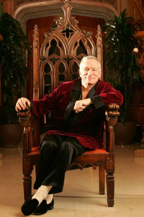 Hugh Hefner in Slippers